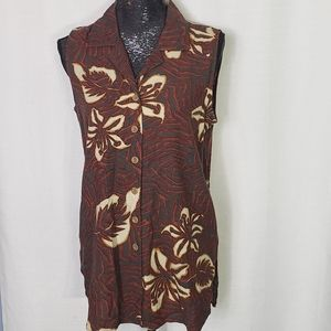 Vintage Norton McNaughton FloralButton Down Vest 8